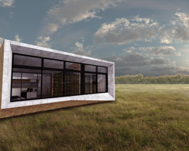 Esta vivienda prefabricada produce más energía de la que consume