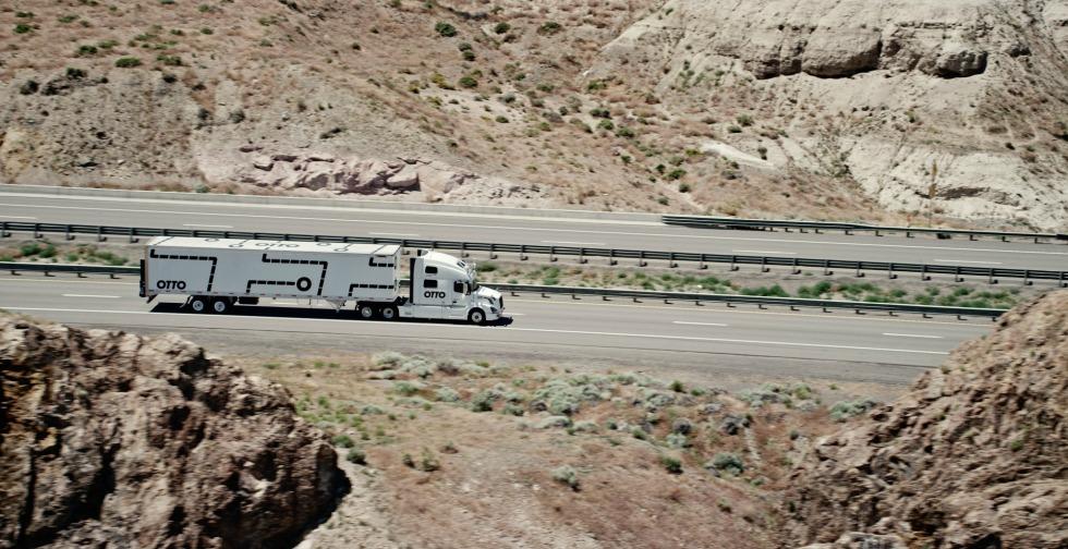 Camion autónomo Volvo - Otto carretera