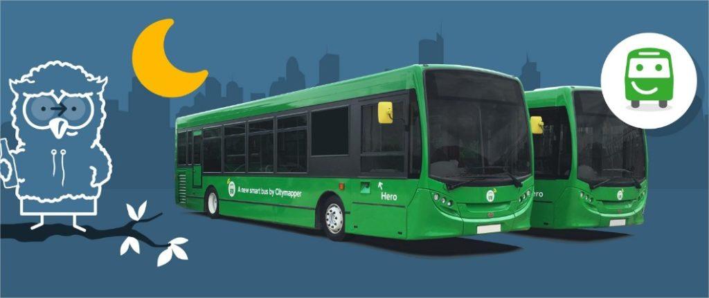 autobuses de citymapper en Londrse