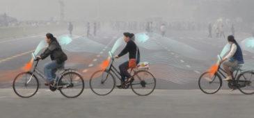 La bicicleta que purifica el aire al circular