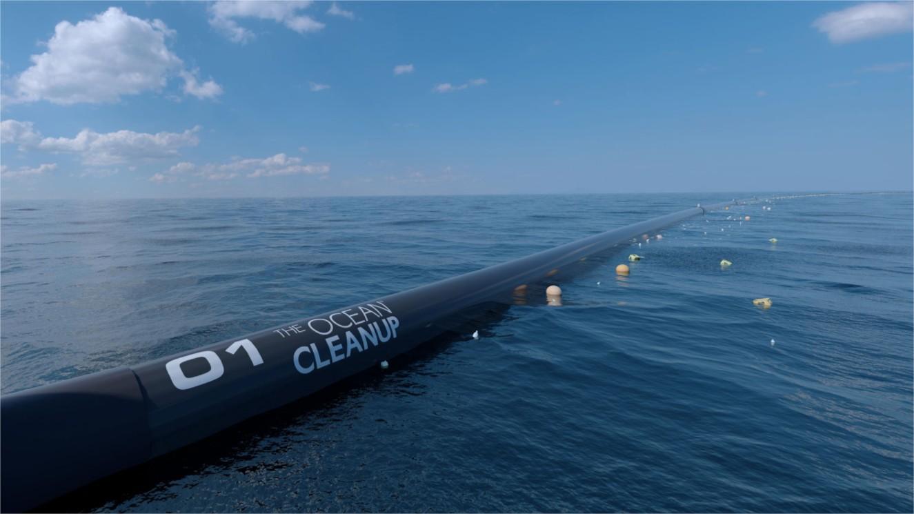 sistema de limpieza ocean cleanup