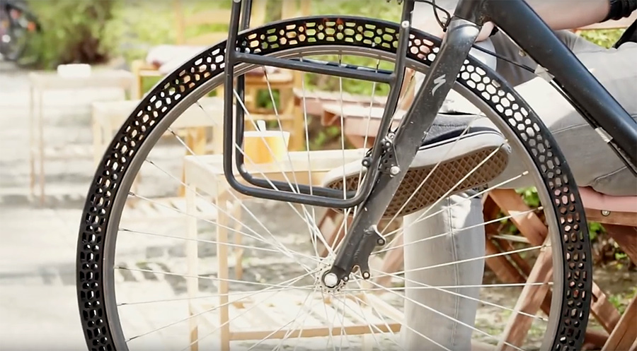 rueda para bicicleta sin aire impresa 3D