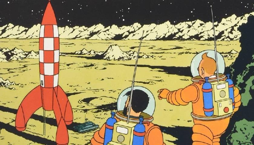 Tintin - aterrizaje la luna