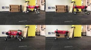 robot cuadrúpedo con ruedas