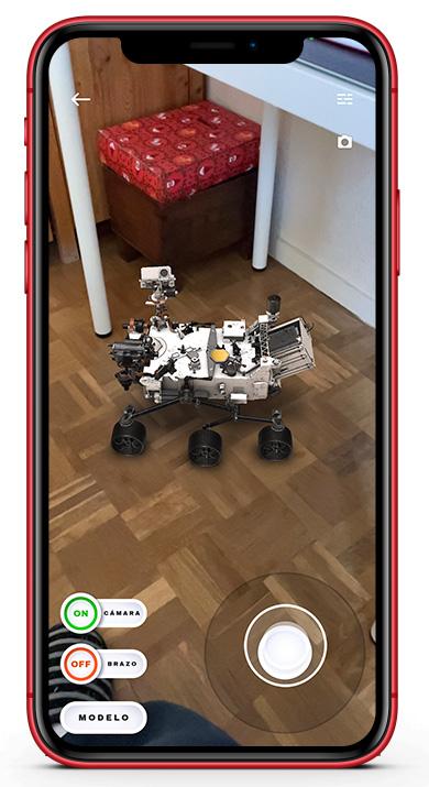 rover Perseverance Mars AR
